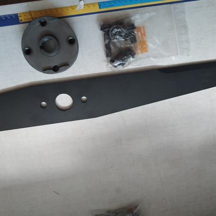 Nůž mulčovací + unašecí disk + šrouby SET pro Sherpa AS 940, AS920