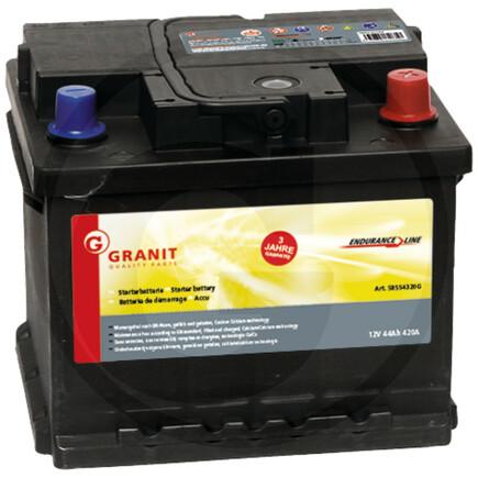 Baterie 12V/44 Ah 58554320 pravá tlustý kontakt š.17cm