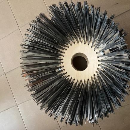 Kartáče zametací talířový HAKO 600/650, 400/700, ocelový drát 3,3 combi