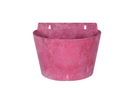Nástěnný květináč Claire růžový D24x16 H18