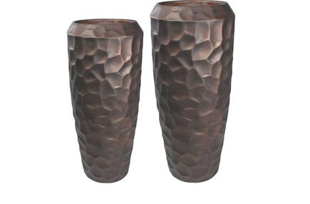 Set 2 váz Cascara bronzový D55 H125