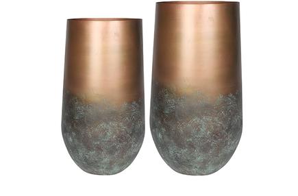 Set 2 váz Elisa mystic bronze D41 H68