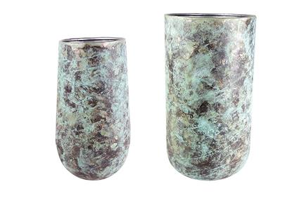 Set 2 váz Elisa mystic green D41 H68