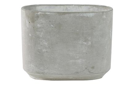 Váza široká Saar cement D26x13 H21