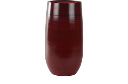 Váza Cresta sytě červená D31 H68