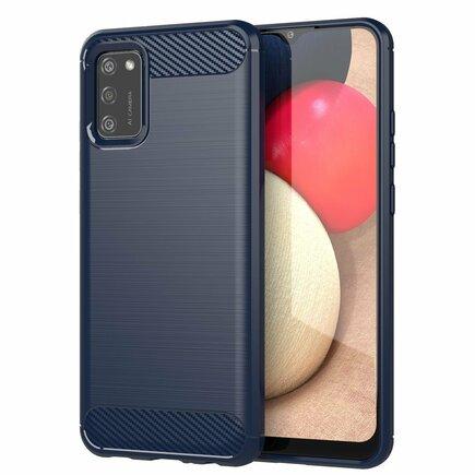 Carbon Case elastické pouzdro Samsung Galaxy A02s modré