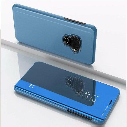 Clear View Case pouzdro s klapkou Huawei Mate 30 Lite modré