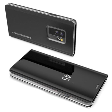 Clear View Case pouzdro s klapkou Samsung Galaxy S10 černé (logo Challenge Hybrid)