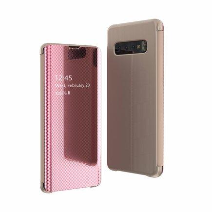 Flip View pouzdro s klapkou Samsung Galaxy S10 Plus růžové