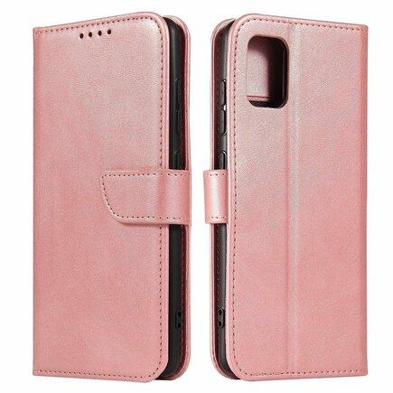 Magnet Case elegantní pouzdro s klapkou a funkcí podstavce Samsung Galaxy A51 5G růžové