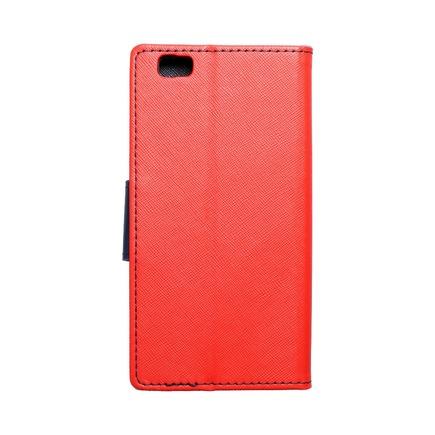 Pouzdro Fancy Book Huawei P8 Lite červené/tmavě modré