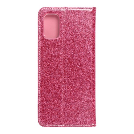 Pouzdro Shining Book Samsung A41 růžové