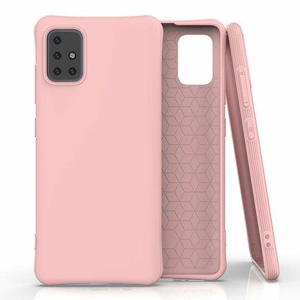 Soft Color Case elastické gelové pouzdro Samsung Galaxy A51 růžové