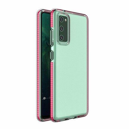 Spring Case gelové pouzdro s barevným rámem Samsung Galaxy S20 FE 5G růžové