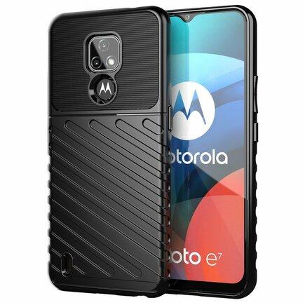 Thunder Case elastické pancéřové pouzdro Motorola Moto E7 černé