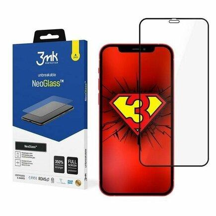 Tvrzené sklo NeoGlass iPhone 12 / 12 Pro černé