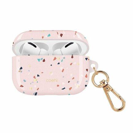 UNIQ Pouzdro Coehl Terrazzo AirPods Pro růžové/blush pink