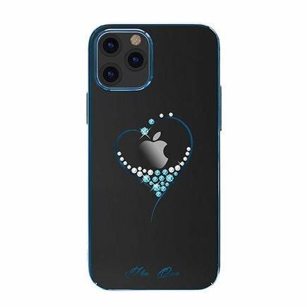 Wish Series pouzdro zdobené originálními krystalky Swarovski iPhone 12 Mini modré
