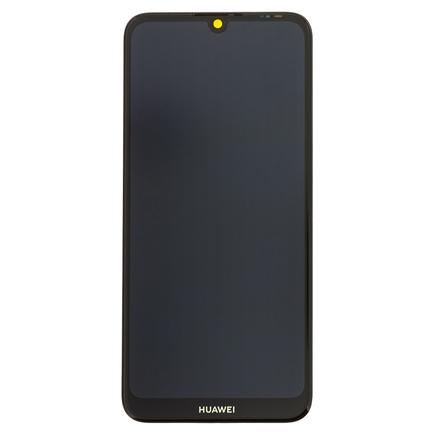 Y6 2019 LCD Display + Dotyková Deska + Přední Kryt černý (Service Pack)