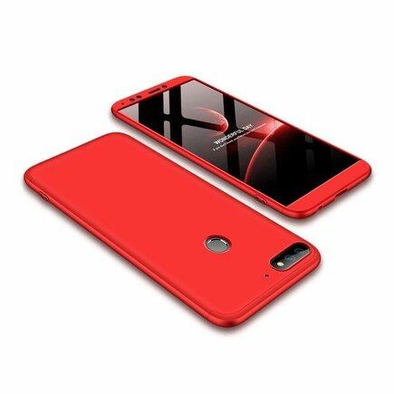 360 Protection pouzdro na přední i zadní část telefonu Huawei Y7 Prime 2018 červené