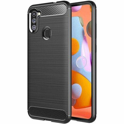 Carbon Case elastické pouzdro Samsung Galaxy A11 / M11 modré