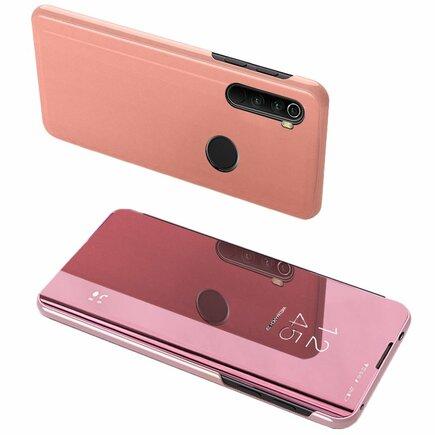Clear View Case pouzdro s klapkou Xiaomi Redmi Note 8 růžové