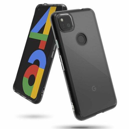 Fusion pouzdro s gelovým rámem Google Pixel 4A šedé (FSGG0019)