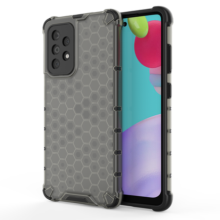 Honeycomb pancéřové pouzdro s gelovým rámem Samsung Galaxy A52 5G / A52 4G černé