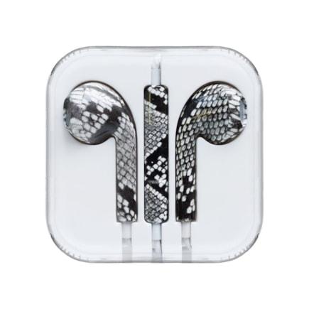 Sluchátka s mikrofonem iPhone iPad iPod zelený had