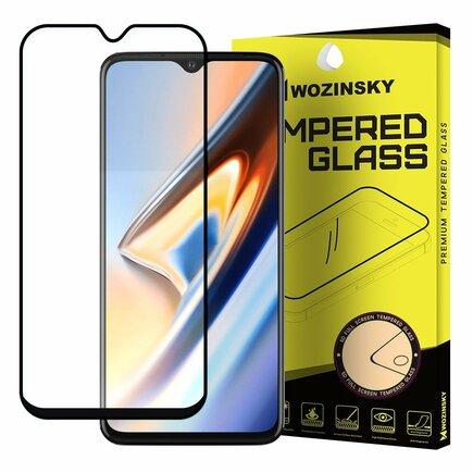 Super odolné tvrzené sklo Full Glue na celý displej Case Friendly OnePlus 7T černé