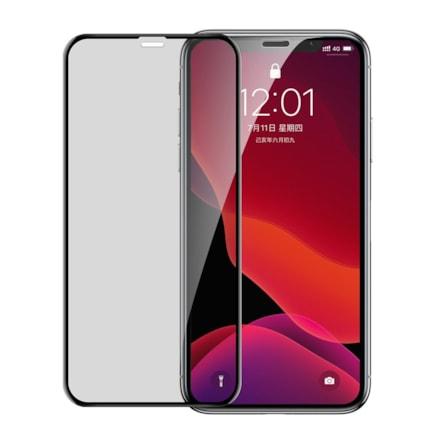 Baseus Full Screen Privacy Anti-Spy Glass s rámečkem 0,23 mm 9H iPhone 11 Pro / iPhone XS / iPhone X + polohovací zařízení černá (SGAPIPH58-CTG01)