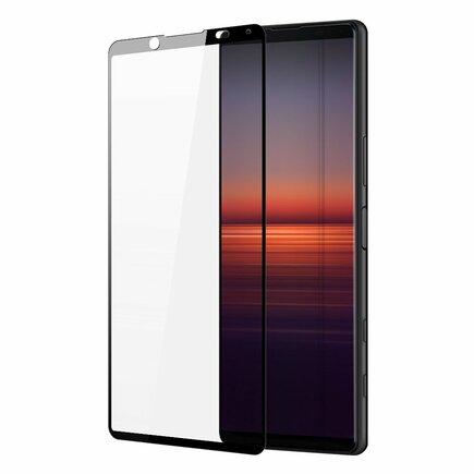 Dux Ducis 10D Tempered Glass odolné tvrzené sklo 9H na celý displej s rámem Sony Xperia 5 II černé (case friendly)