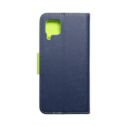 Pouzdro Fancy Book Huawei P40 Lite 5G tmavě modré/limetkové