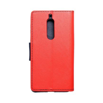 Pouzdro Fancy Book Nokia 5 červené/tmavě modré