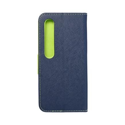 Pouzdro Fancy Book Xiaomi Mi 10 tmavě modré/limetkové