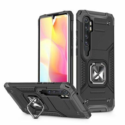 Wozinsky Ring Armor pancéřové hybridní pouzdro + magnetický úchyt Xiaomi Mi Note 10 / Mi Note 10 Pro / Mi CC9 Pro černé