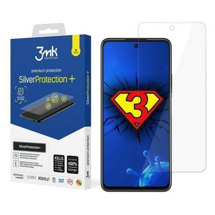 3MK Silver Protect+ Huawei P Smart 2021 Anti mikrobní fólie s montáží na mokro