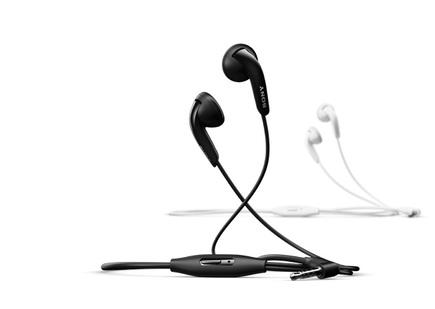 Drátová sluchátka Stereo HF černá