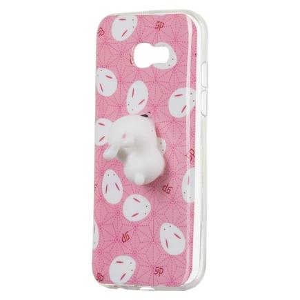 Gelové pouzdro Squishy animal gumová hračka 4D chumlánek Samsung Galaxy A5 2017 A520 králik