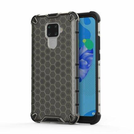 Honeycomb pancéřové pouzdro s gelovým rámem Huawei Mate 30 Lite / Huawei Nova 5i Pro černé