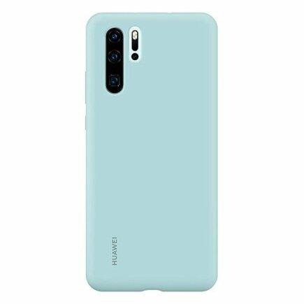 Originální Silikonové Pouzdro světle modré pro Huawei P30 Pro (EU Blister)