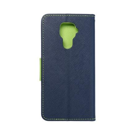 Pouzdro Fancy Book Huawei Mate 30 Lite tmavě modré/limetkové