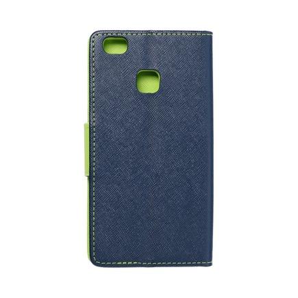 Pouzdro Fancy Book Huawei P9 Lite tmavě modré/limetkové