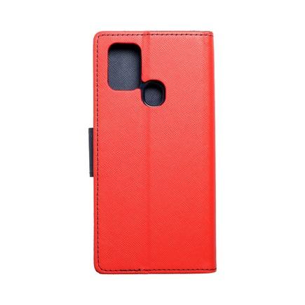 Pouzdro Fancy Book Samsung A21s červené/tmavě modré