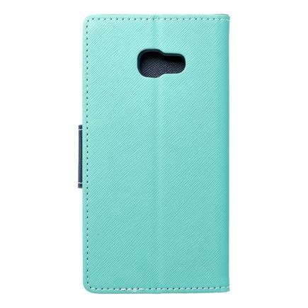 Pouzdro Fancy Book Samsung Galaxy A5 2017 mátově zelené/tmavě modré