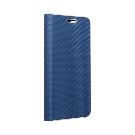 Pouzdro Forcell Luna Book Carbon iPhone 13 Pro Max modré