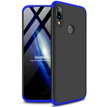 Protection Case pouzdro na přední i zadní část telefonu Xiaomi Redmi 7 černo/modré
