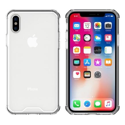 Shockproof gelové zesílené pouzdro iPhone X průsvitné