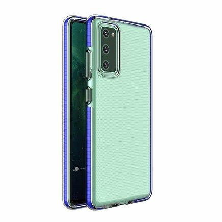 Spring Case gelové pouzdro s barevným rámem Samsung Galaxy S20 FE 5G modré