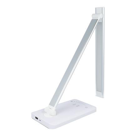 Stolní lampa LED + USB + časovač, skládací USB JB506 stříbrná